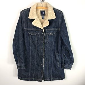 Vintage GAP Sherpa Denim Jacket Jean Coat
